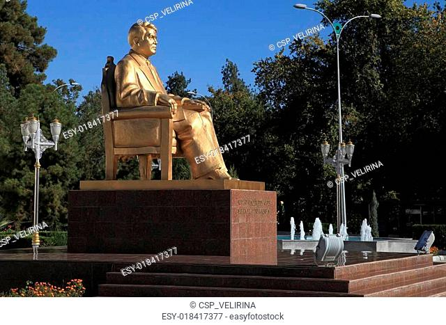Ashgabat, Turkmenistan - October 23, 2014. Monument to the first