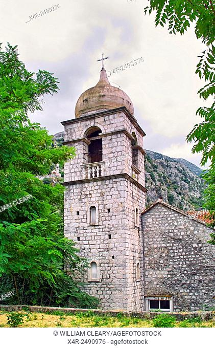 Old church in the walled city of Kotor, Montenegro