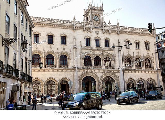 Rossio Train Station in LIsbon - Portugal