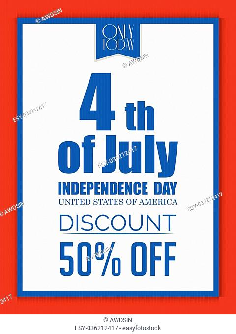 creative vector sale abstract for Fourth of July in a creative background