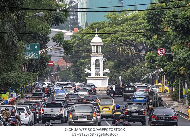 Traffic jam in Bandung, Java, Indonesia