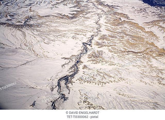 Aerial view of Colorado desert