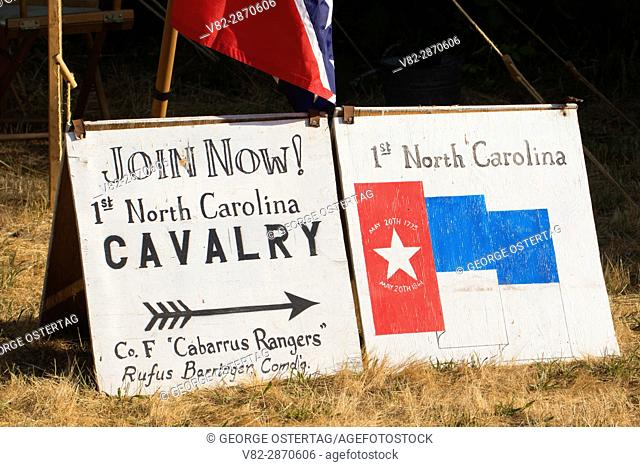 Recruitment board, Civil War Re-enactment, Willamette Mission State Park, Oregon