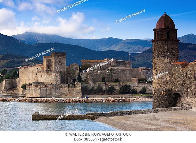 France, Languedoc-Roussillon, Pyrennes-Orientales Department, Vermillion Coast Area, Collioure, Eglise Notre Dame des Anges