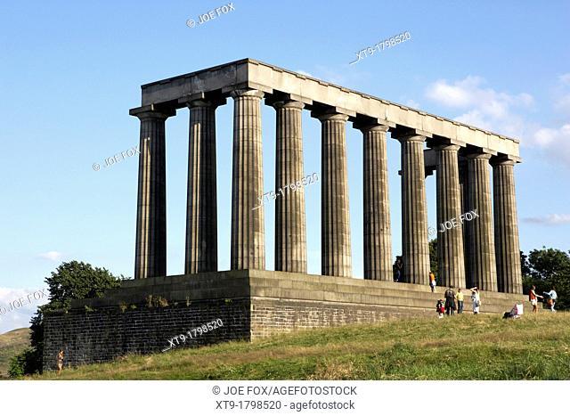 the scottish national monument on calton hill edinburgh scotland uk united kingdom