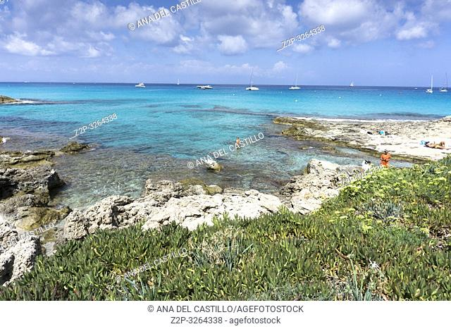 Turquoise Mediterranean sea Formentera island Spain