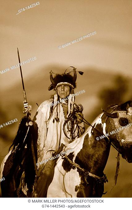Native American Riding on Horseback Re-enactment Model Released