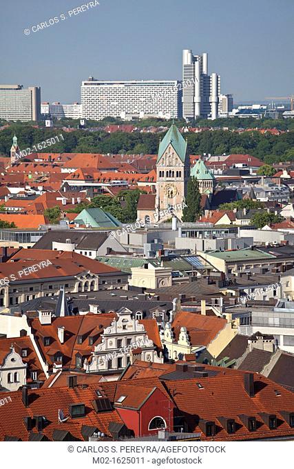 View of Munich, Upper Bavaria, Germany, Europe