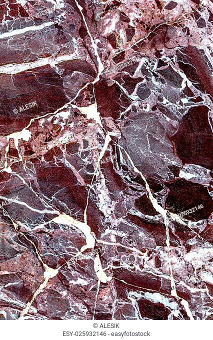 beautiful old reddish-brown pink decorative stone marble abstract cracks and stains on the surface as natural background