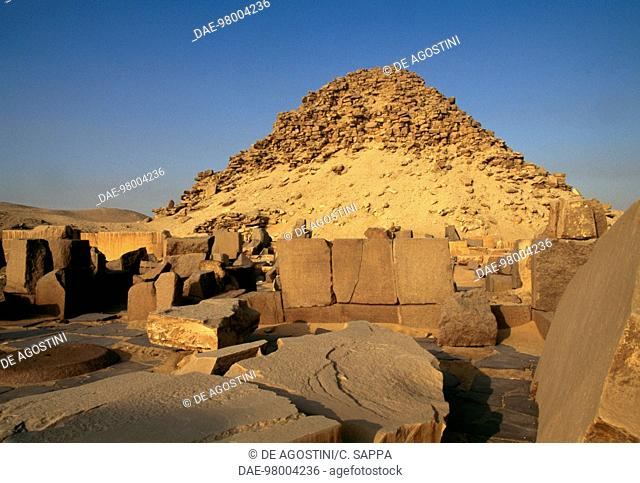 Mortuary temple and Pyramid of Sahure, Morturary Complex of Sahure, Necropolis of Abusir (UNESCO World Heritage List, 1979), Egypt