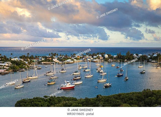 Harbour, Hope Town, Elbow Cay, Abaco Islands, Bahamas, West Indies, Central America