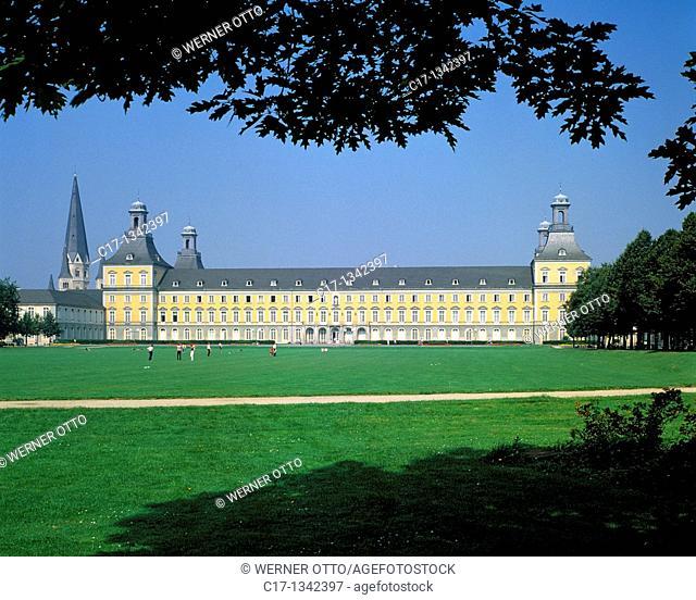 Germany, Bonn, Rhine, Rhineland, North Rhine-Westphalia, NRW, Bonn Minster Saint Martin, Basilica Minor, catholic church, electoral castle, University of Bonn