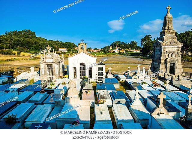 Niembro Cemetery at low tide. Niembro, LLanes, Asturias, Spain