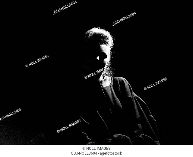 Woman, Mysterious, Shadow