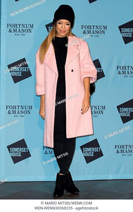 The Skate at Somerset House with Fortnum & Mason Launch Party held at the Somerset House - Arrivals Featuring: Sarah Jane Crawford Where: London