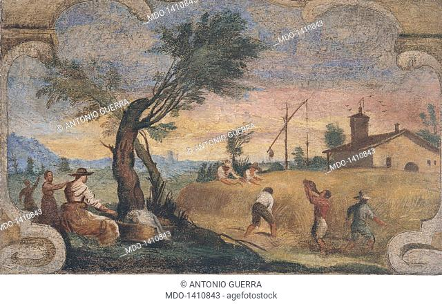 Scene of Country Life - Reaping Time (Scena di vita campestre - La mietitura), by Giovan Francesco Barbieri known as il Guercino, 1615 - 1616, 17th Century