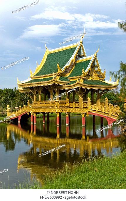 Old bridge, open air museum Ancient City, Thailand
