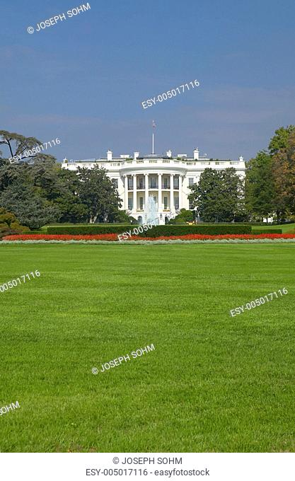 The White House South Lawn with Truman Balcony, Washington D.C