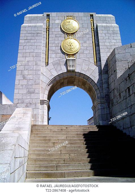 Gibraltar (United Kingdom). Monument to the brotherhood between the United States and England in the colony of Gibraltar