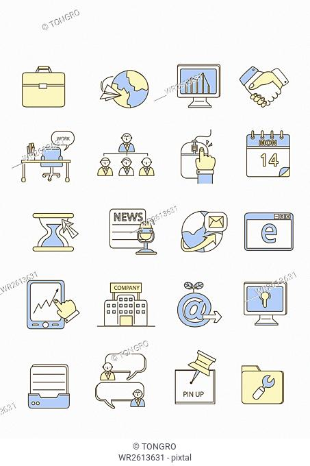 Icons related to business