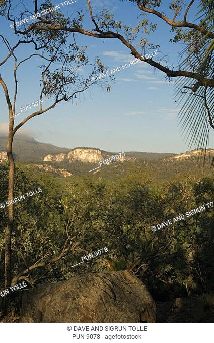 View over Carnarvon National Park in Queensland
