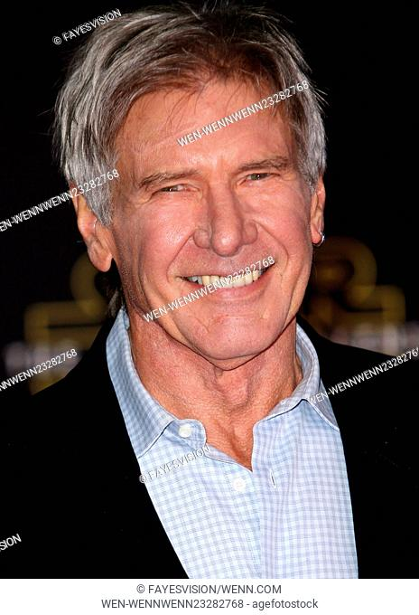 "Premiere Of Walt Disney Pictures And Lucasfilm's """"Star Wars: The Force Awakens"""" Featuring: Harrison Ford Where: Hollywood, California"