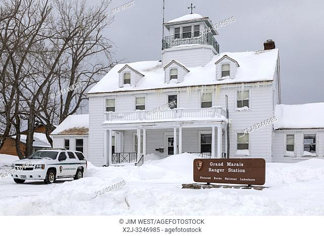 Grand Marais, Michigan - The National Park Service's ranger station for Pictured Rocks National Lakeshore