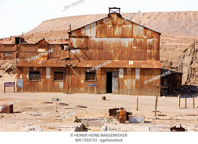 Humberstone Saltpeter Works, UNESCO World Heritage Site, Atacama Desert, northern Chile, Chile, South America