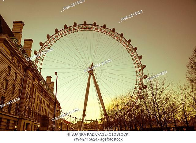 London Eye, England, Uk