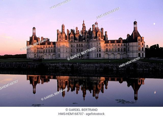 France, Loir et Cher, Chambord Castle Loire Castles, listed as World Heritage by UNESCO
