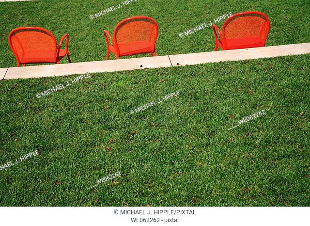 Chairs and green grass