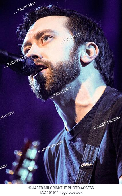 2dc2a8e242c044 Tim McIlrath of Rise Against performing at the 2007 KROQ Almost Acoustic  Christmas at the Gibson