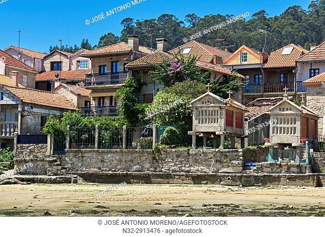 Combarro, Horreo, Poio, Ria de Pontevedra, Pontevedra province, Galicia, Spain