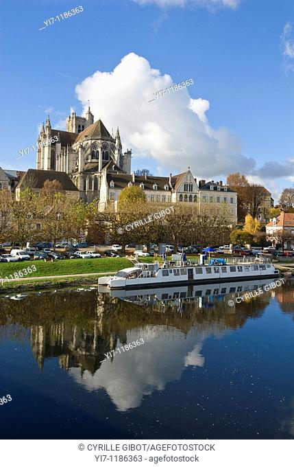 The Auxerre Cathedral, Auxerre, Yonne, Burgundy, France