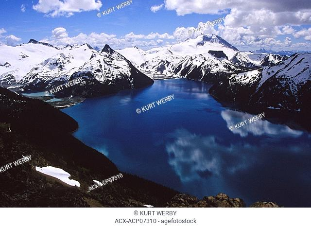Looking down to Garibaldi Lake from Panorama Ridge, Garibaldi Provincial Park, British Columbia, Canada
