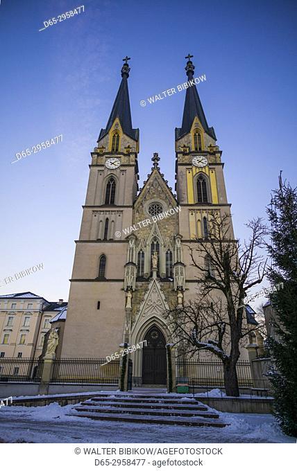 Austria, Styria, Admont, Admont Abbey, exterior, winter