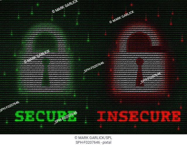 Data encryption, conceptual illustration