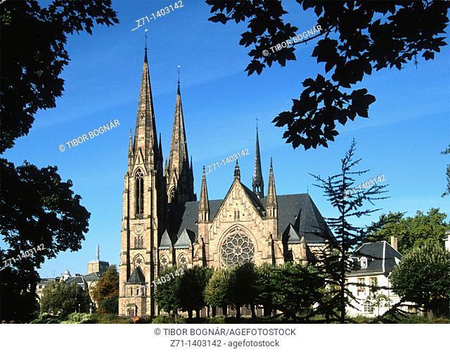 France, Alsace, Strasbourg, St-Paul Church