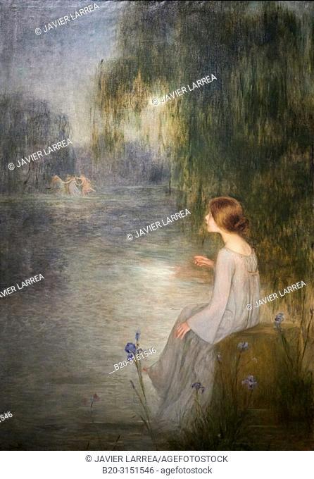 """""""Dream"""", c. 1905, Joan Brull, National Museum of Catalan Art, Museu Nacional d Art de Catalunya, MNAC, Barcelona, Spain, Europe"