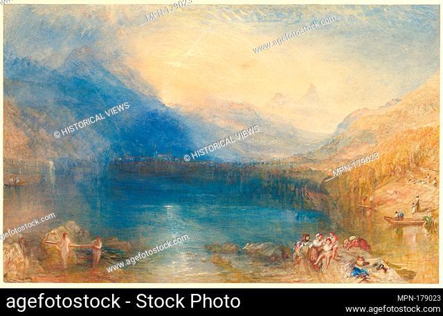 The Lake of Zug. Artist: Joseph Mallord William Turner (British, London 1775-1851 London); Date: 1843; Medium: Watercolor over graphite; Dimensions: 11 3/4 x 18...