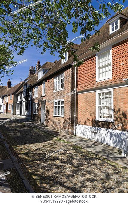 Cobbled street, Rye, East Sussex, England, UK