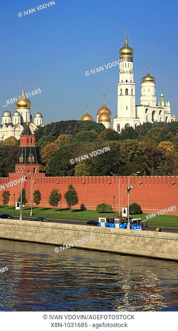 Kremlin, view from embankment, Moscow, Russia
