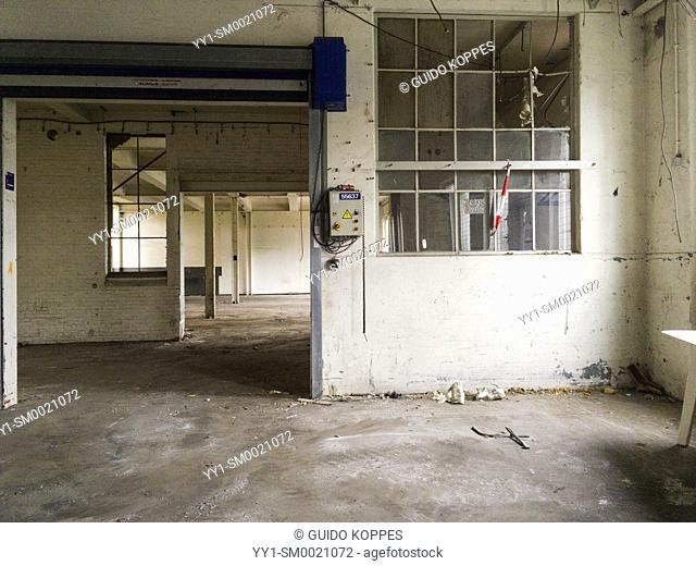 Tilburg, Netherlands. Abandoned Industrial Space formely owned by the Dutch Railways Refurbisment and Overhauling Cooperation