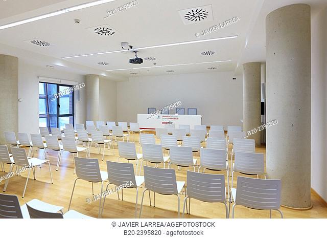 Auditorium. Building eco-intelligent architecture with zero emissions. Enertic Building. Martutene. Donostia San Sebastian. Gipuzkoa. Basque Country