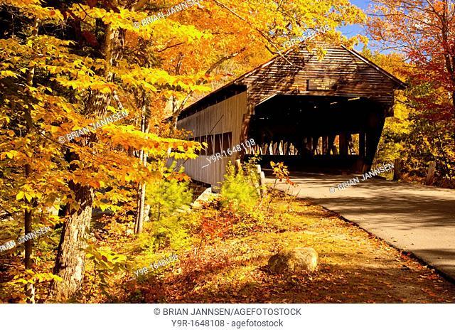 Autumn at the Albany Covered Bridge, Albany New Hampshire USA