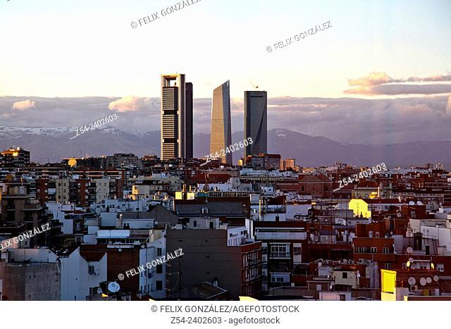 Panoramic View, Four Towers Madrid, Spain