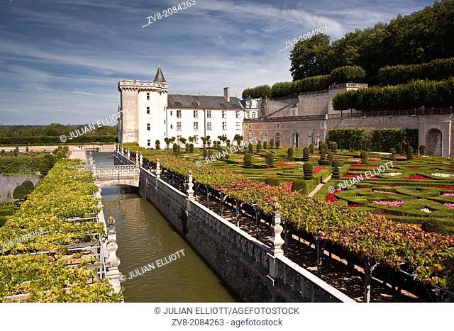 Chateau de Villandry, Villandry, Indre-et-Loire, France
