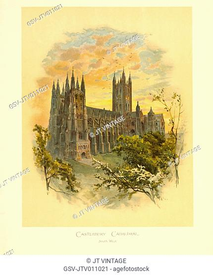 Canterbury Cathedral, South West, Arthur Wilde Parsons, 1886