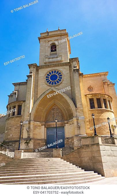 Albacete church in Castile La Mancha of Spain by Sait James Way of Levante