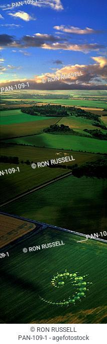 Crop Circles, England Photo Montage